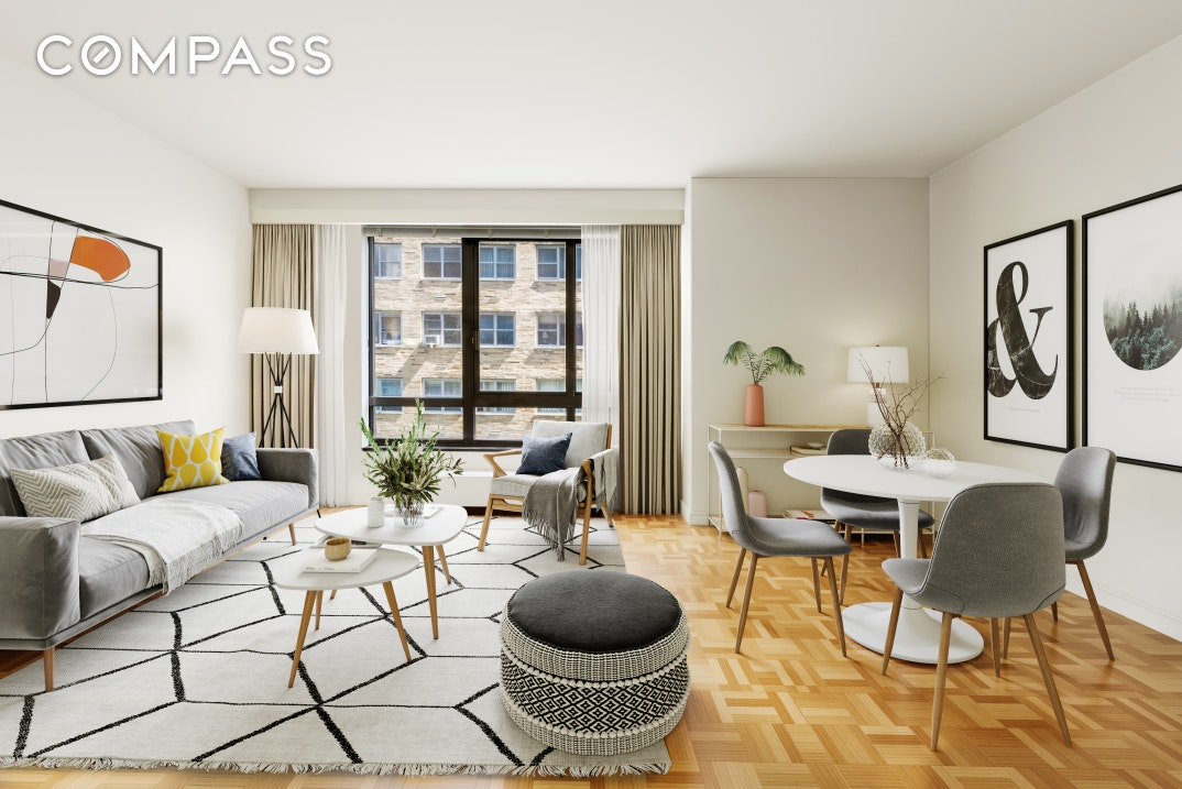 Absolutely THE BEST  DEAL for  large 1 bedroom  in Elegant Full Service Condominium steps from Grand Central ! Tenant of this generous home with oversized windows and  high ceilings will enjoy Stunning 5000 Square Feet Fitness Center , Business Center and Beautiful Outdoor Space
