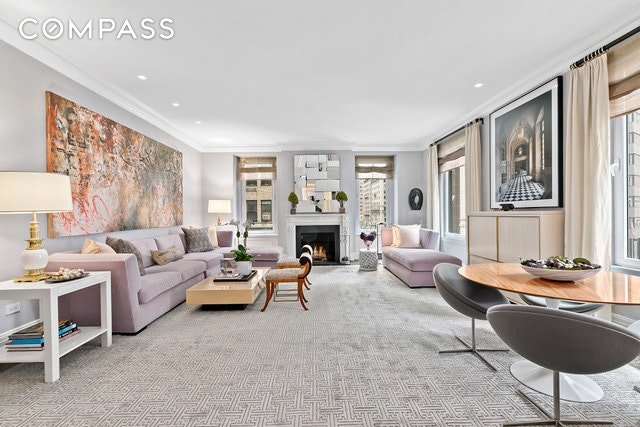 Park Avenue Renovated Stunner with LOW Monthlies! 470 Park Avenue is the ultimate white glove full-service co-op, conveniently located between 57th and 58th Streets. Perfect for foreign buyers, pied-a terre's and families looking for a larger space.  Situated on the 4th floor, Apt. 3CE offers Park Avenue views in the utmost sophisticated pre-war detailed living with 10' high ceilings, herringbone wood floors, original moldings throughout, new triple glazed windows and the original wood burning fireplace at approximately 3000 SF. This mint condition 3 bedroom (the library can be an added 4th bedroom, large home office or gym), 4.5 bathroom home is South, North and East facing with a sun-filled layout of modern luxury in a pre-war building.  Enter into the open foyer and face the corner expansive living room (26 x 20) that soaks in sunlight with four oversized windows facing SW on Park Avenue. The impressive size living room makes the perfect backdrop for entertaining or just an evening by the fire. Off the foyer and through large double doors is the library with an en-suite bathroom. The large master bedroom overlooks Park Avenue with a wall of custom-built closets and an en-suite bathroom with separate bath and shower and custom silk artwork over the bathtub. The oversized second and third bedrooms all have en-suite bathrooms and large closets. The spacious, sunny Park Avenue facing eat-in kitchen has been fully renovated with marble countertops, plenty of cabinets and premium stainless-steel appliances, including a Sub-Zero refrigerator, Miele Induction cook top, stove and dishwasher. The apartment has central air conditioning, a washer and dryer hook up and ample closets throughout the  Two Storage units in the basement come with the apartment. About the Building: 470 Park Avenue is a classic prewar that was built in 1916 and designed by Schwartz & Gross who are also responsible for many other Park Avenue prewar buildings. Located close to the Midtown Business Dis
