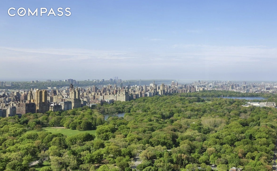 UNOBSTRUCTED SKYLINE AND CENTRAL PARK VIEWS! World- renowned designer Juan Pablo Monyneux has created a rare 'L-line' apartment against a backdrop of stunning panoramic views. This premier 2,510 sq. ft. 3-bedroom, 3.5 bathroom apartment occupies one of the best real estate corners in the world, boasting spectacular panoramic views of Central Park to the north, sweeping west to the Hudson River, and south with breathtaking views of Manhattan's most iconic buildings. As you enter the foyer illuminated with cove lighting and black and white limestone designer floors, you are drawn towards the gallery which has an arched ceiling and is framed by opulent, burnished koa wood paneling with wainscoting. The expansive living room has three exposures and is enhanced by spectacular 18th century parquet de Versailles floors. Hidden behind the flawless paneling of the gallery and living room are two entrances to an eat-in kitchen overlooking Central Park with an adjacent laundry area. Off the gallery is a corner den/bedroom with lovely southwest city views and a beautiful en suite marble bath. A beautiful bedroom with stunning views of Central Park, generous closet space, and its own marble bath with separate shower as well as a wall of artfully customized cabinets. Just off of the master suite there is a spacious dressing room and onyx bath. *Electronic shades and audio wiring throughout *Individually controlled heating and air conditioning *Fitness room *Concierge *24 hr. Doorman *Restaurant in building *Security Designed by architect Der Scutt, the 68 story tower rises above Fifth Avenue between East 56th and East 57th street adjacent to Tiffany's. The dramatic glass curtain wall with floor-to-ceiling windows offers spectacular views of Central Park, Manhattan and beyond. Accessible through a private entrance on 56th street, the residential condominiums comprise floors 30 through 68, with office, retail and fine dining space below.